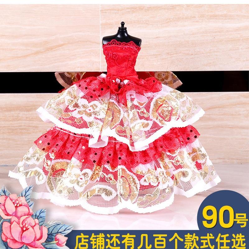 12 pulgadas muñeca ropa vestido de boda casa de muñecas accesorios de vestir de tela ropa de bebé niña, ropa de la muñeca American Girl Juguetes