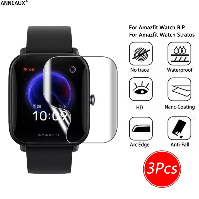 3Pcs Full Cover Soft Hydrogel film Watch Accessorie Waterproof Screen Protector For Apple Watch 38MM