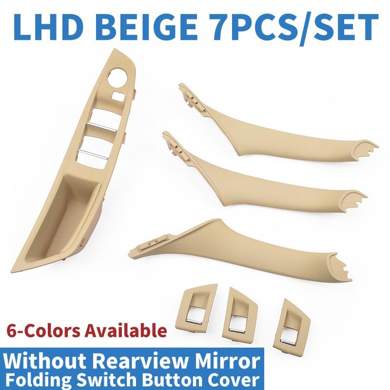 Tirador de puerta Interior para coche LHD, interruptor para ventana, Panel embellecedor, botón plegable sin espejo para BMW F10 F11 F18 520 523 525 528 530