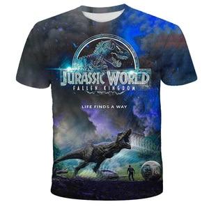New Jurassic Park T Shirt 3D Printed Boys Girls T-shirt Casual Funny Tops Jurassic World Tees Children Boy Girl Cool Tshirt