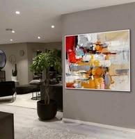 handmade acrylic painting palette knife modern canvas art work abstract artwork large wall art office living room decor