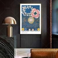 hilma af klint print modern art bohemian wall decor scandinavian poster abstract art museum gallery print wall art