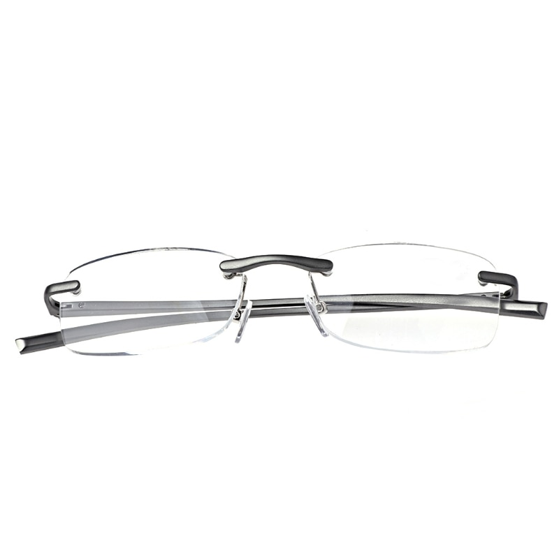 Gafas de lectura sin montura de Metal de aluminio gafas para presbicia resina lente + 1,0 ~ + 3,5 F3MD