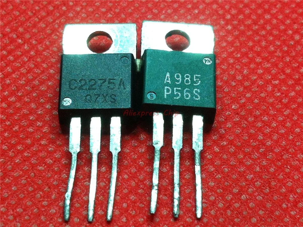 4pcs/lot 2SA985 2SC2275 A985 C2275 TO-220 one pair