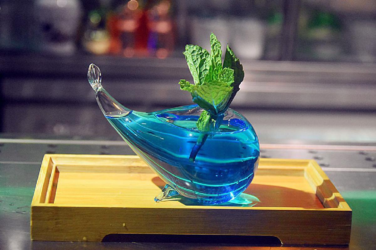 Net red japoneses nuevos estilos Qing bar cocktail glass whale molécula ahumado creativo cóctel cristalería copas de vidrio copas de vino