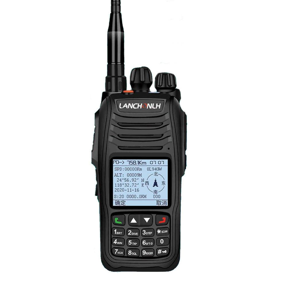 LANCHONLH HG-UV98 المهنية APRS FM الإرسال والاستقبال GPS الأزرق الأسنان المزدوج الفرقة اسلكية تخاطب 136-174Mhz 400-470Mhz 5W 2500mAh