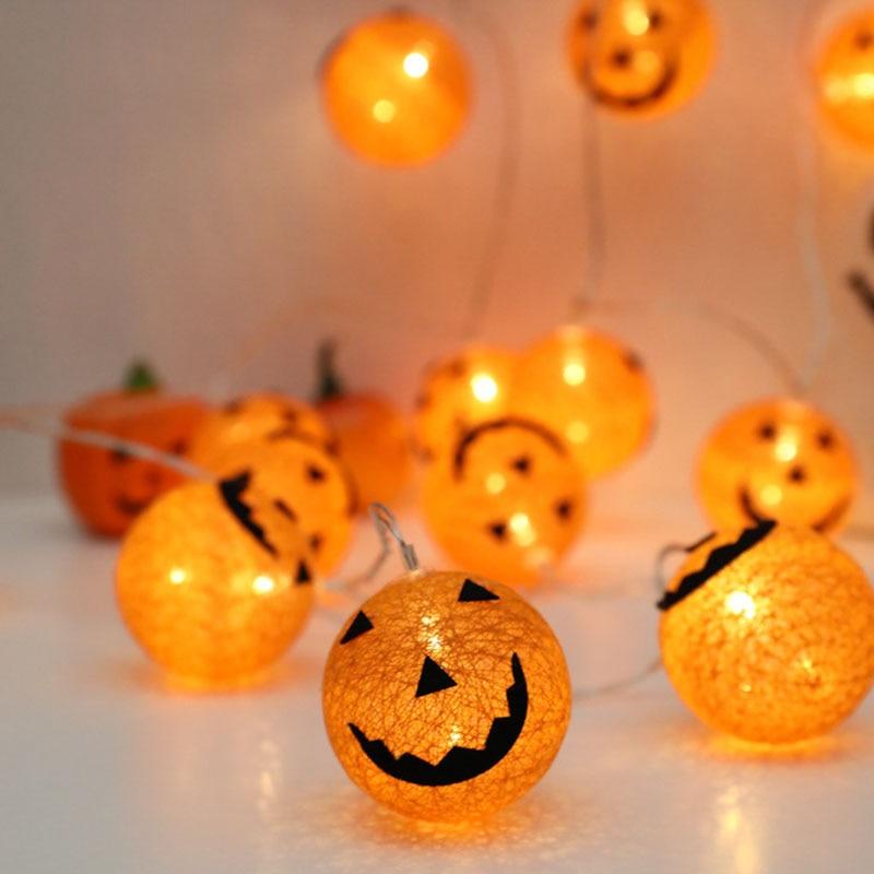 1pcs LED Paper Lantern Pumpkin Bat Hanging Light Lamp Halloween Party Decorate your home Energy-saving and environmentally