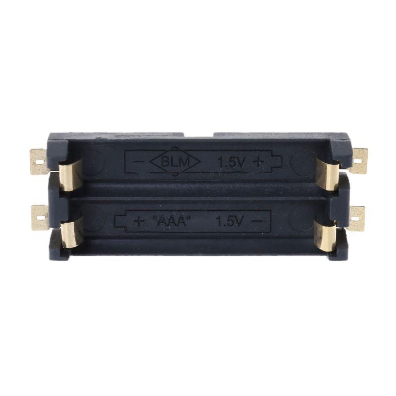 1,5 V SMT SMD 2 AAA batería titular PCB caja contenedor almacenamiento caja AAA batería PXPE