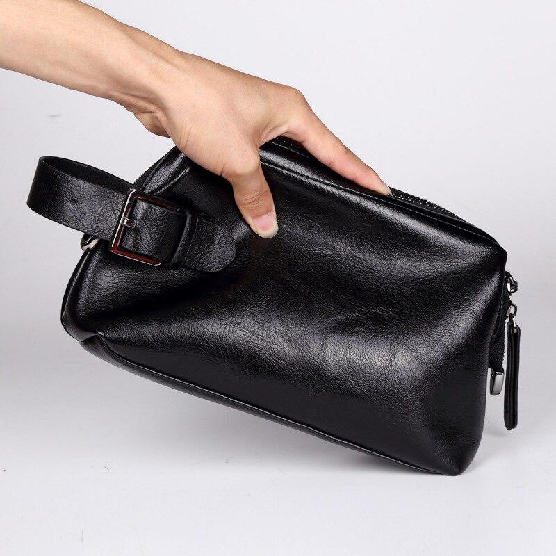 Роскошный деловой клатч для мужчин, мягкий ранцеобразный мужской клатч, вместительные бумажники, сумочка для сотового телефона, мужской кл...