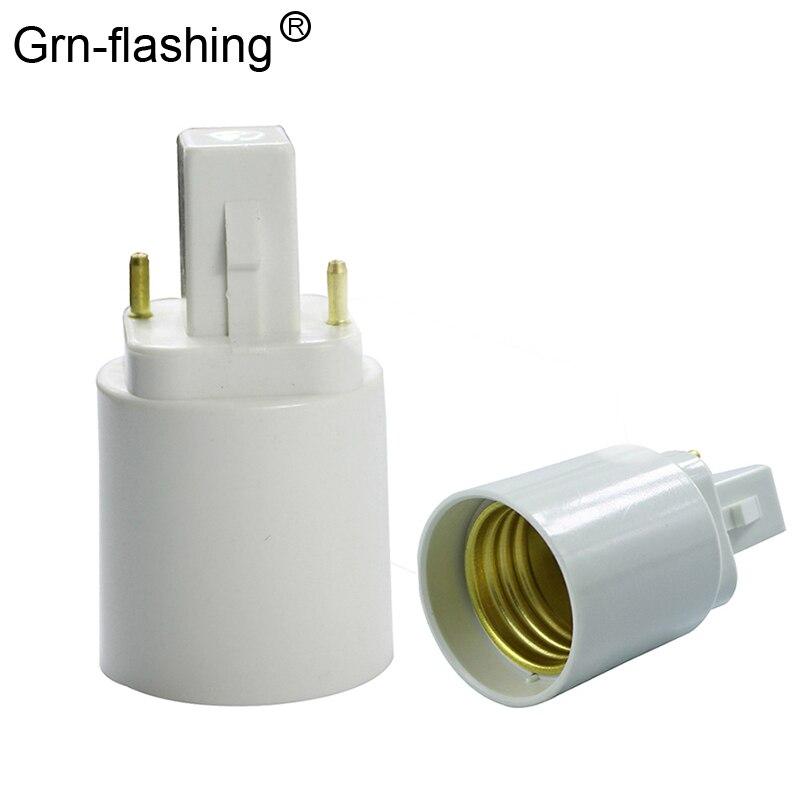 1 шт., замедлитель G24 на E27, держатель лампы, Конвертор, светильник, цоколь, гнездо, светодиодный, галогенный, CFL, лампа, конвертер, G24, адаптер, винт
