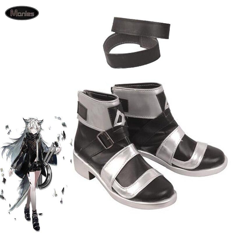Juego Arknights Cosplay Lappland traje botas Zapatos adulto Halloween accesorios carnaval fiesta tobillo negro alto Unisex