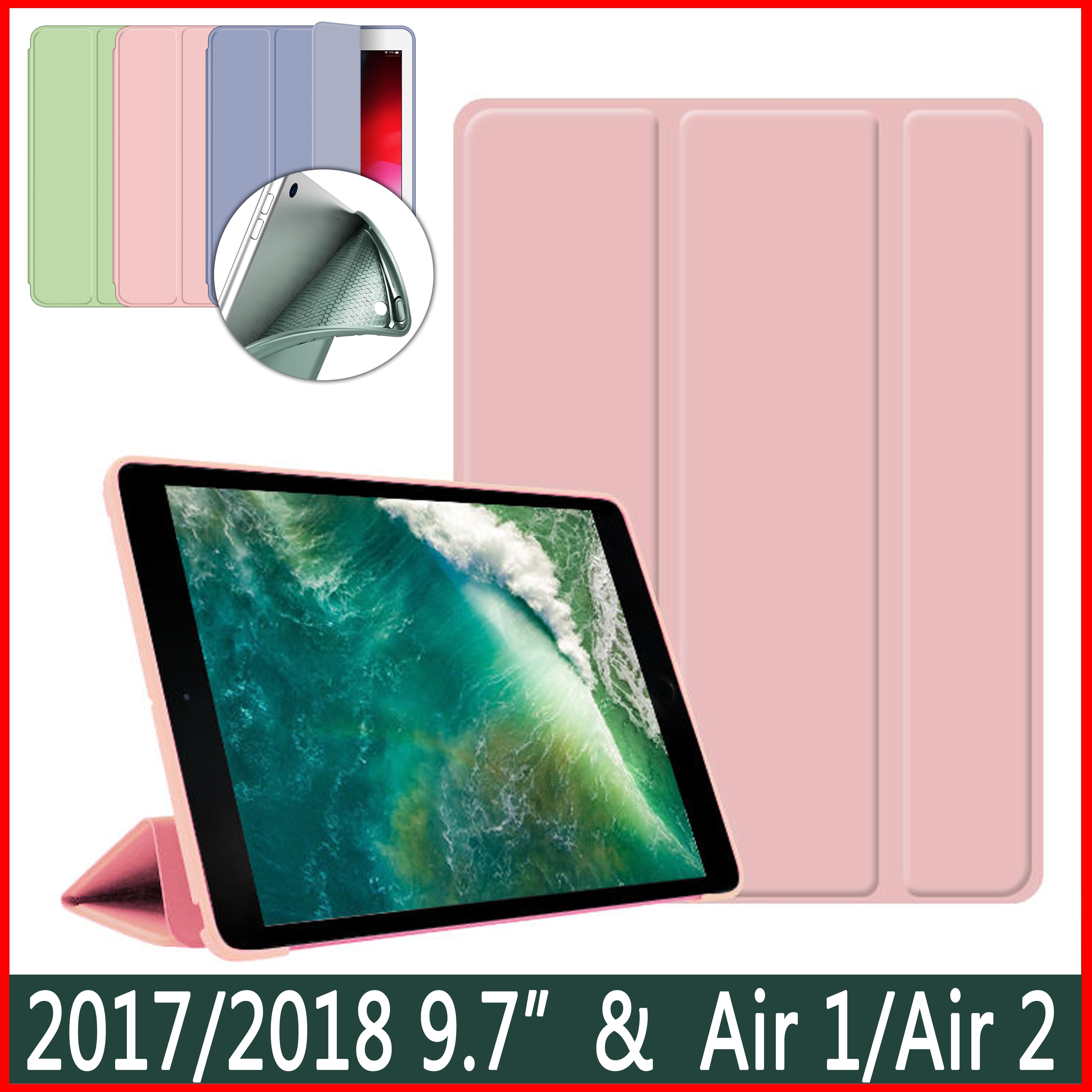 Funda para iPad 2017 2018 9,7 pulgadas Air 1 2, funda para 5. ª generación, funda magnética de TPU de silicona suave para despertar del sueño inteligente