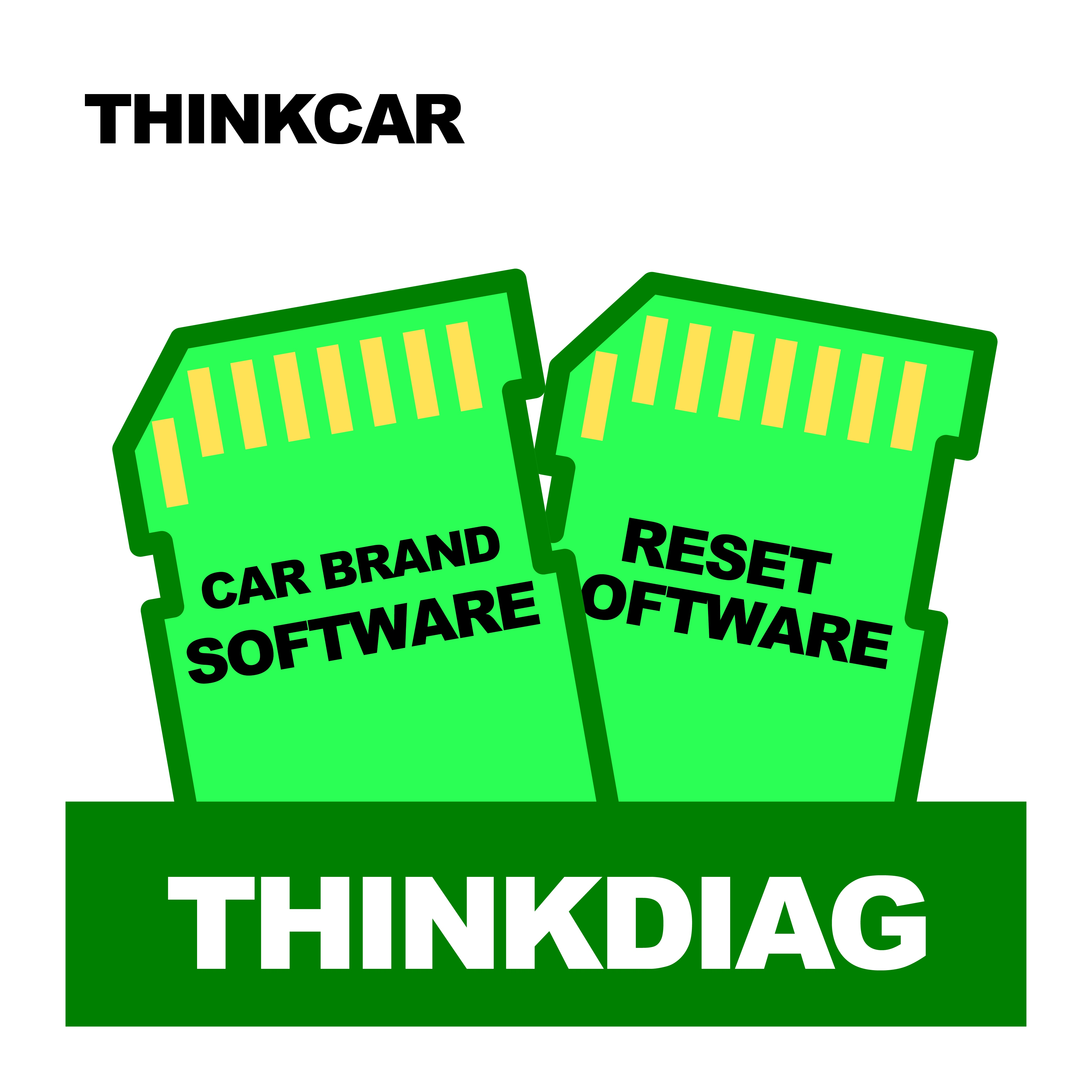 THINKCAR Full New Thinkdiag All software for 2 Year Easy Open Car Manufacturer Reset Software Activate Software for Thinkdiag
