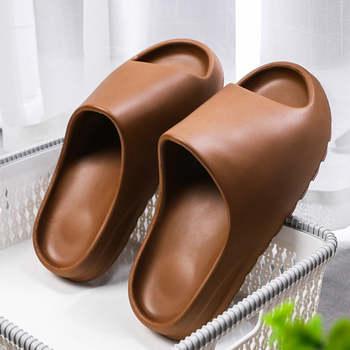 WEH Summer Slippers Men Women Indoor Eva 2020 Cool Soft Bottom Sandals Trend Slides Light Beach Shoes Slippers Home big size 46