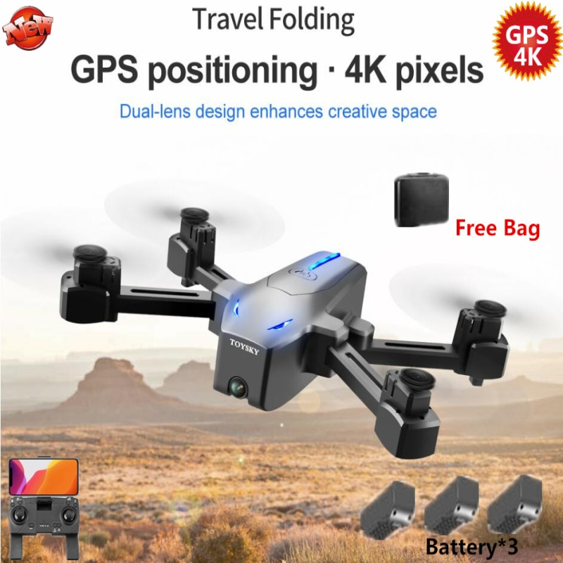 4k Professional 5G WIFI FPV Remote Control GPS Follow Me RC Drone 500M 17MINS Optical Flow Auto Return Smart RC Quadcopter Model