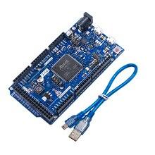 Carte DUE R3 SAM3X8E Cortex-M3 de bras 32 bits/Mega2560 R3 Duemilanove 2013 pour Arduino Due carte avec câble livraison gratuite