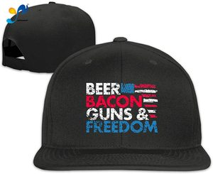 Yellowpods Beer Bacon Guns And Freedom Men's Relaxed Medium Profile Adjustable Baseball Cap