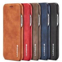 Чехол бумажник премиум класса для телефона IPhone SE2 Xr X Xs, откидной кожаный чехол с держателем для карт для IPhone 11, 12 Pro Max, 7, 8, 6S, 6 Plus, 12 Mini