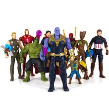 Jouets Marvel The Avenger end game 15CM, Super héros Thor Hulk Thanos Wolverine, Spider Man Iron Man, figurines, jouets figurines