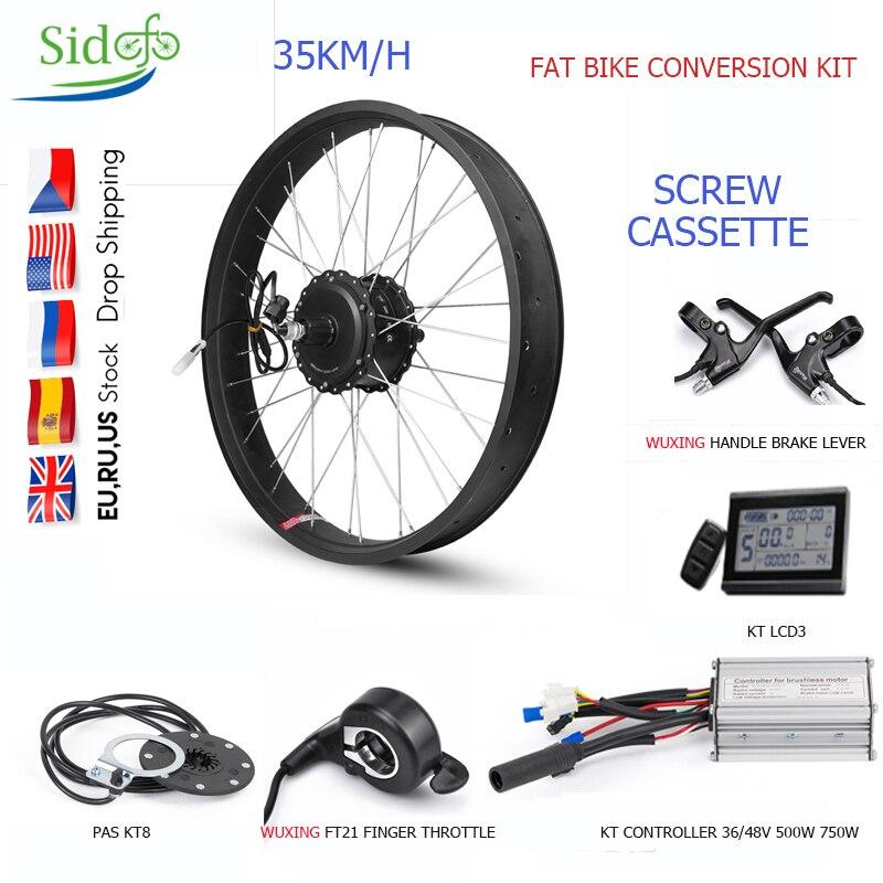 Kit de conversión de Bicicleta eléctrica, Motor de cubo de rueda trasera,...