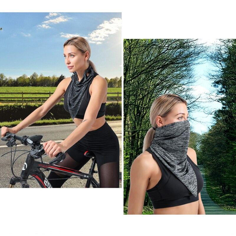 10 unidades bufanda de protección solar de seda de hielo máscara mágica de montar en verano Unisex protección solar absorción de humedad multifunción chal babero