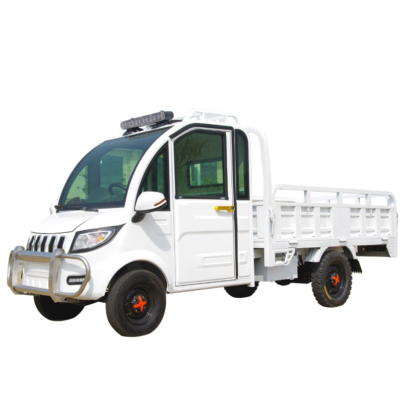 50km per hour express pull truck fully enclosed freight battery cargo insulation compartment-seater electric tricycle