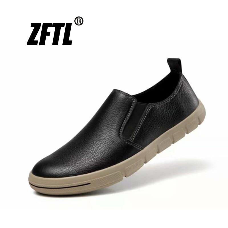 ZFTL-أحذية موكاسين غير قابلة للانزلاق للرجال ، أحذية بدون كعب ، أحذية قارب ، أحذية بدون كعب ناعمة ، علامة تجارية جديدة