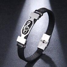 Boho bijoux Style Design Steampunk acier inoxydable mode hommes Bracelet en cuir cadeau classique pour hommes brassard heren