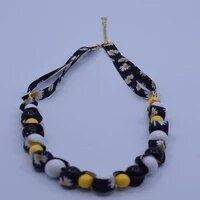 krasivaya plastic beads with lace italy style necklace for women fashion jewelry