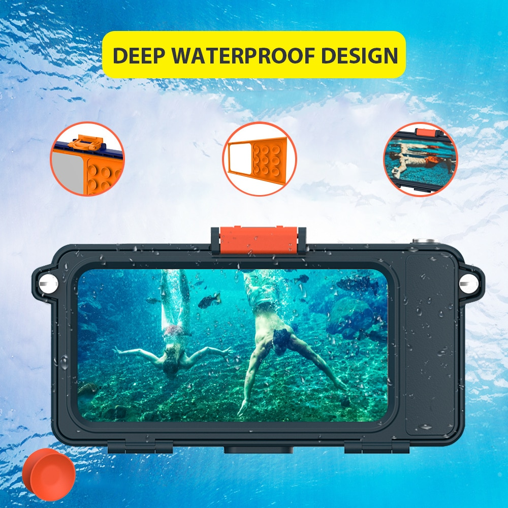 Swimming Underwater Camera Phone Universal Diving Waterproof Phone Case Snorkeling Rafting Paddling Camera Phone Waterproof Bag