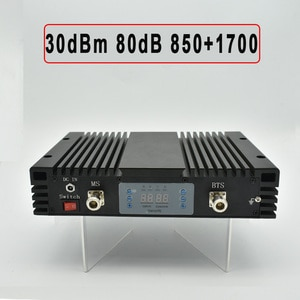 Lintratek 2G 4G 850 FDD signal booster 1700 LTE 3G 850Mhz cell mobile phone repeater band5 band4 celluar amplifier LCD display
