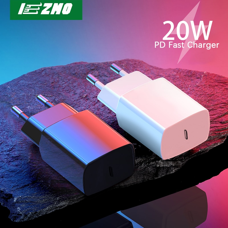 USB Charger For iPhone 12 11 Pro Max Fast Charger EU Adapter 20W 18W For Samsung S21Ultra Xiaomi Hua