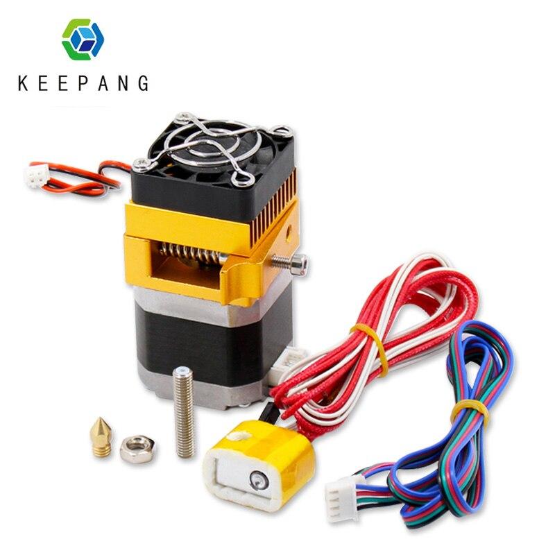 Extrusora MK8 j-head Hoten, extrusora de impresora 3d, Kit de boquilla de 0,4mm, extrusión de filamento de 1,75mm con Motor de garganta, pieza de aluminio