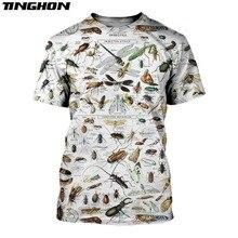 XS-7XL moda męska 3d T Shirt 3D wszystko nadrukowane owady ubrania t-shirty lato Harajuku Casual Unisex t-shirty