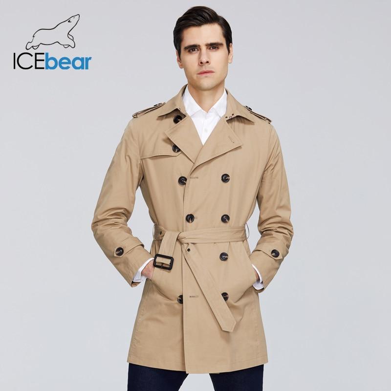 ICEbear 2020 New men's trench coat high-quality men's long lapel windbreakers men's brand clothing MWF20709D