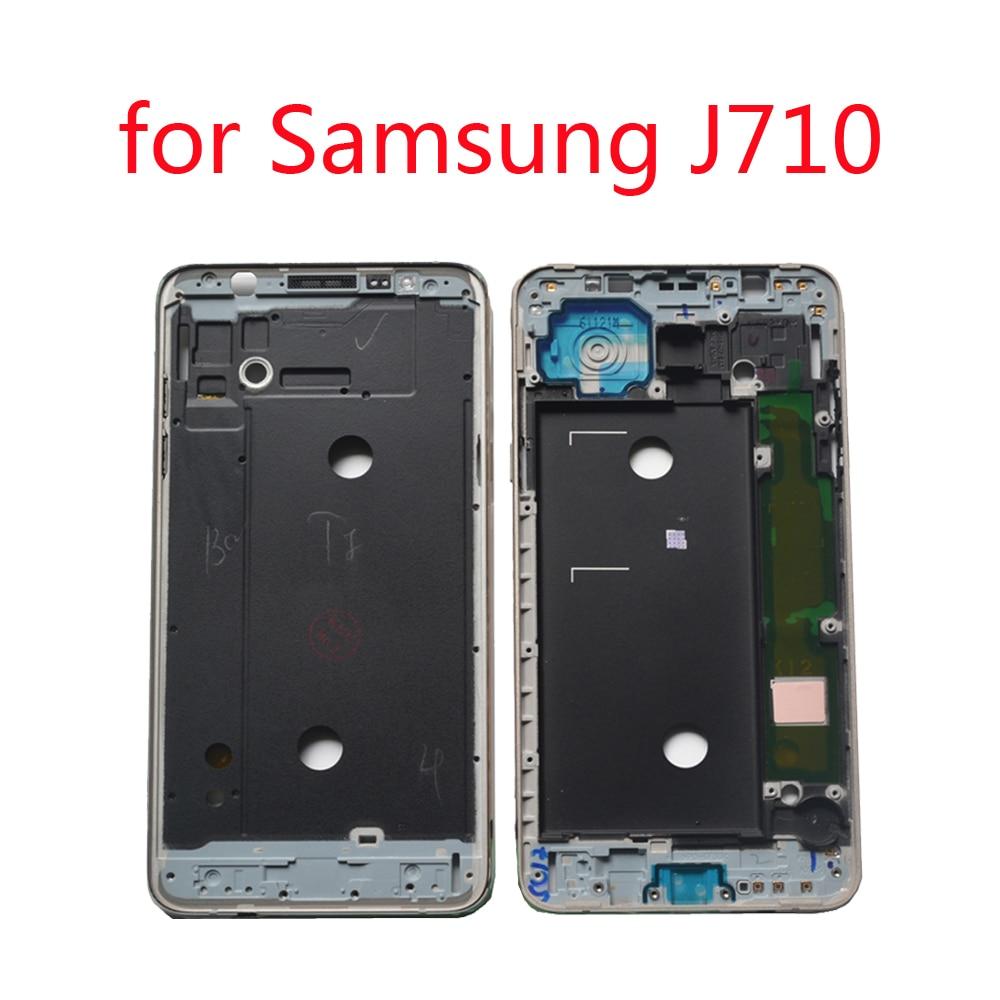 LCD Plate Middle Frame For Samsung J7 J710 2016 J710F J710FN J710FQ J710K J710MN Original Phone New Gold Housing Bezel With Glue