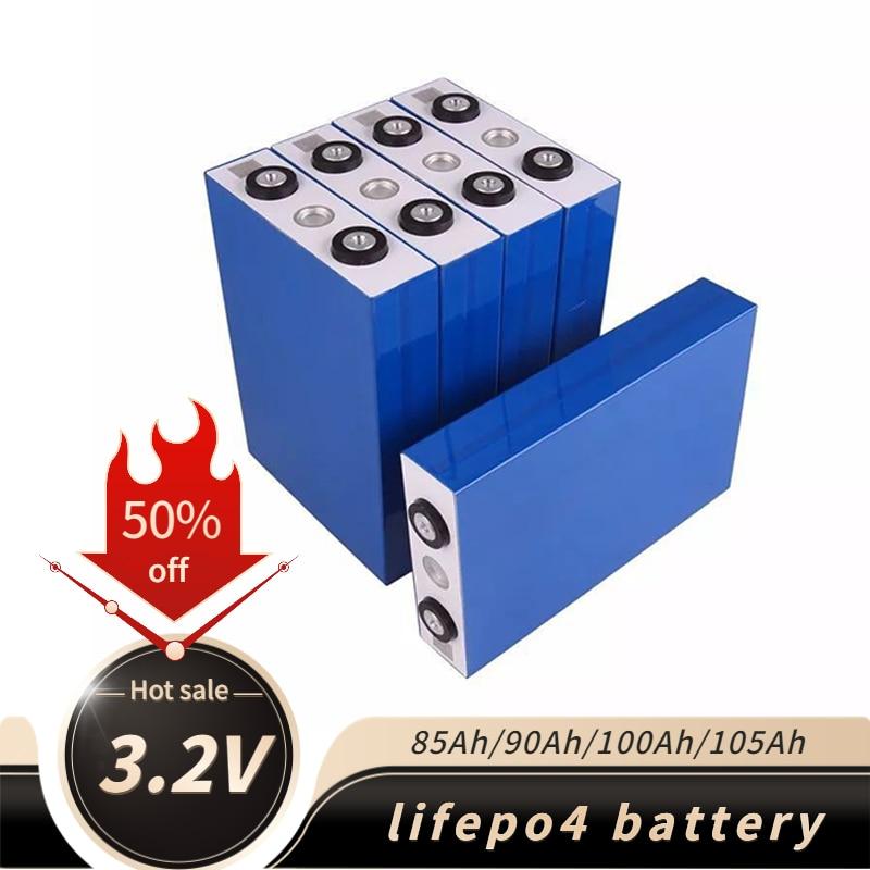 3.2 فولت lifepo4 بطارية حزمة 4 قطعة 85Ah 90Ah 100/7 أمبير سيارة كهربائية RV جولف في الهواء الطلق الطاقة الشمسية قابلة للشحن بطارية ليثيوم 12 فولت