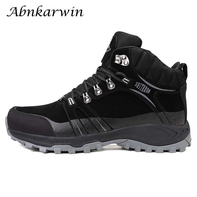 Zapatos de senderismo, botas para hombre, impermeable trekking al aire libre, zapatillas de escalada, montañismo, seguimiento profesional para hombre, senderismo de cuero