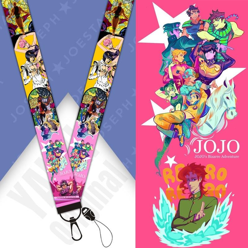 Anime JoJos Bizarre aventure Kakyoin Noriaki Figure cou sangles lanière porte-clés téléphone portable corde ID longes clé lanière cadeau