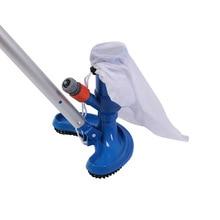 Piscina aspirador de pó limpeza desinfecção ferramenta com alça cabeça sucção lagoa fonte spa piscina aspirador escova ue/eua