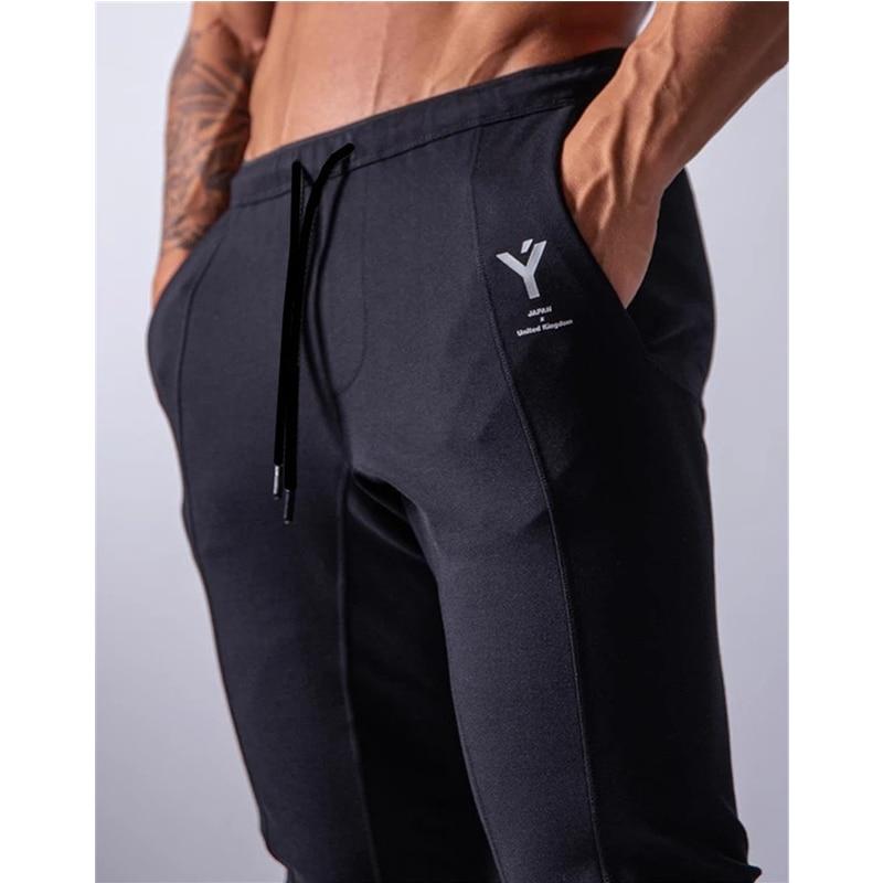 Мужские тренировочные штаны для фитнеса, спортивные штаны, мужские спортивные штаны для бега, спортивные штаны для фитнеса, новая мода, прин...