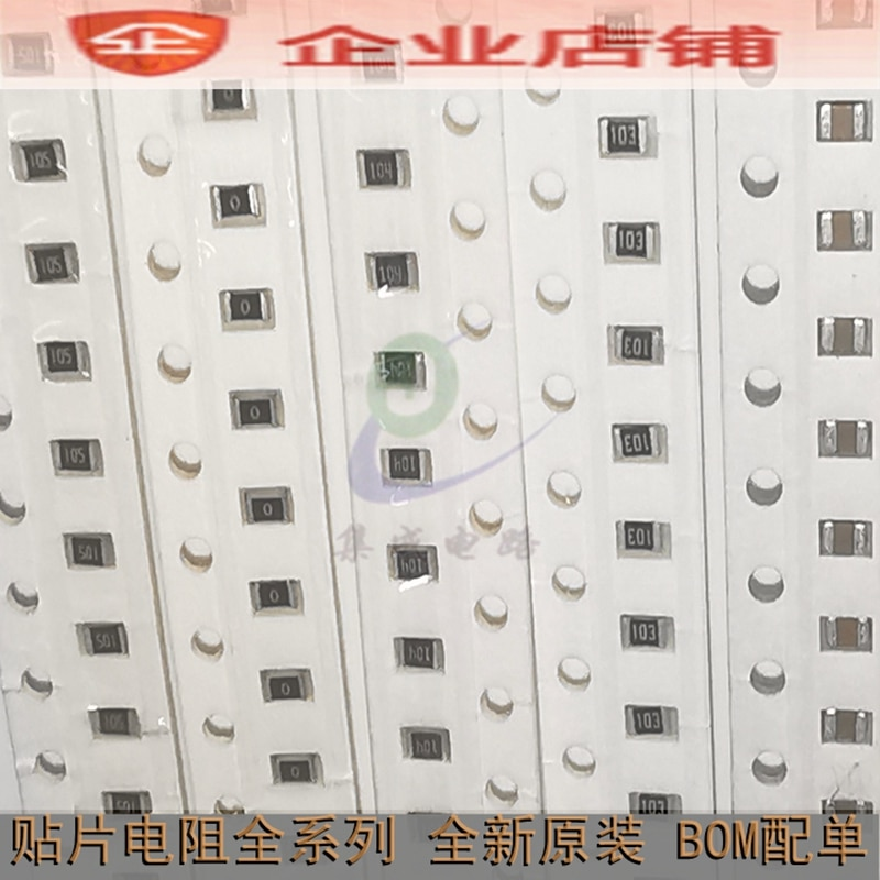100% novo & original 0402 SMD Resistor 6M2(6.2M) 1% 1/16W 0402WGF6204TCE 100 pçs/lote