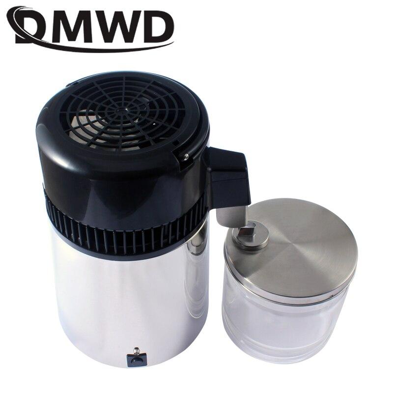 DMWD Pure Water Distiller 304 Stainless Steel Distilled Water Machine Dispenser Filter 4L Dental Distillation Purifier 110V 220V