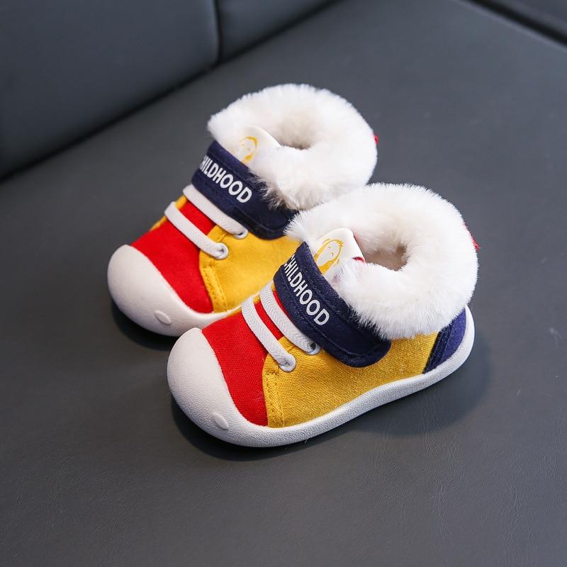 Sapatas da menina do bebê outono inverno crianças meninos tênis dos desenhos animados casuais único sapatos crianças meninas primeiros caminhantes sapatos da criança scw003