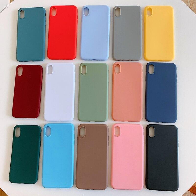 Funda de teléfono de goma de silicona suave para Etui Hawei P20 P30 Pro Lite Honor 7X 8X 8C 8A 10 Lite 7S Mate 30 TPU contraportada Coque