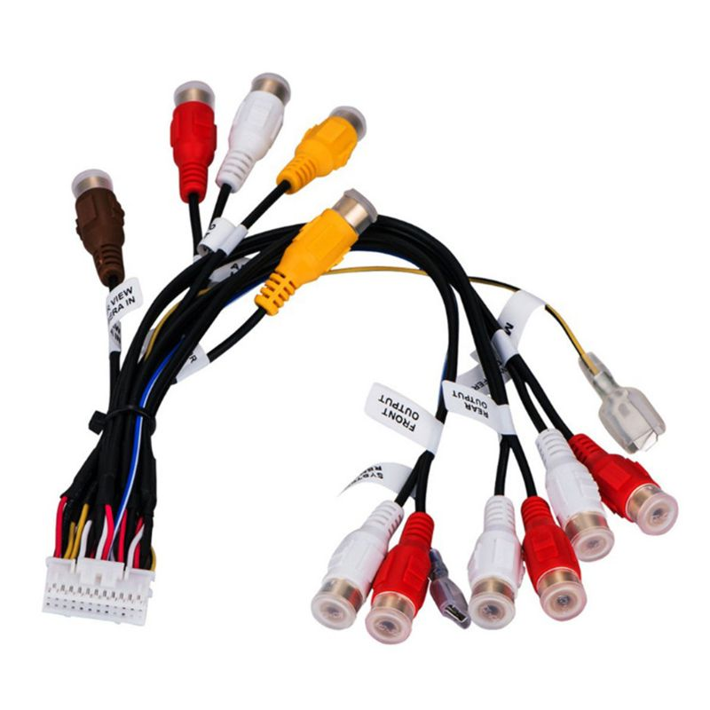 24 pines enchufe coche Radio estéreo RCA salida Cable arnés Cable para AVIC-F900BT U1JF
