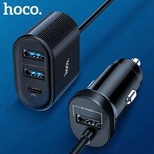 Hoco multi usb chargeur de voiture rapide smart IC 3usb type-c PD QC 3.0 5V 5.4A voiture USB chargeur adaptateur voiture-chargeur pour Xiaomi iphone 11