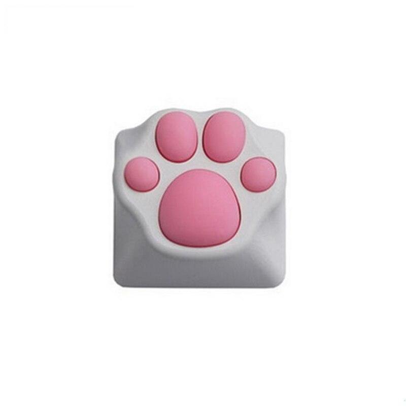 1 unidad adorable garra de gato de plástico Keycap PBT personalidad Cherry Switch Blossom Keycap para teclado mecánico Rosa negro