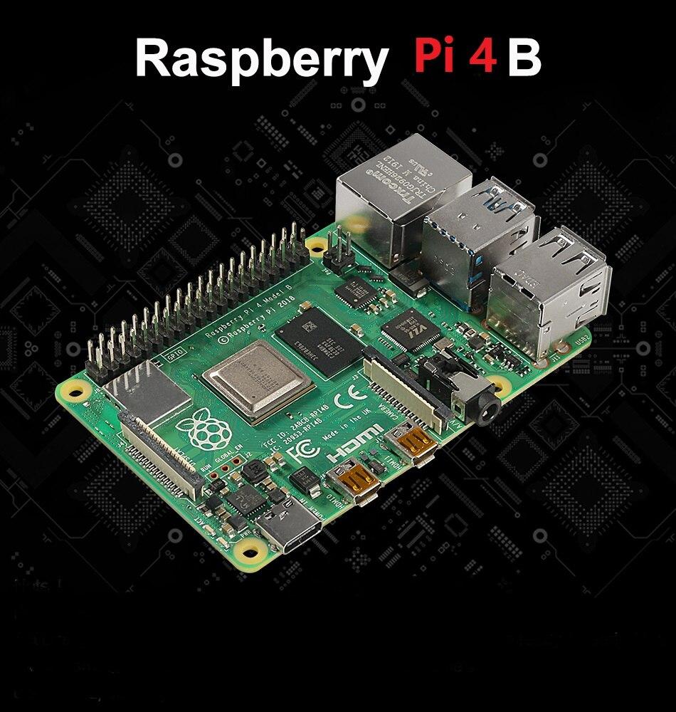 Raspberry Pi 4 Model B 2019 con 1/2/4GB de Ram Bcm2711 Quad Core Cortex-a72 Arm V8 1,5 ghz, Compatible con Wifi 2,4/5,0 Ghz, Bluetooth 5,0