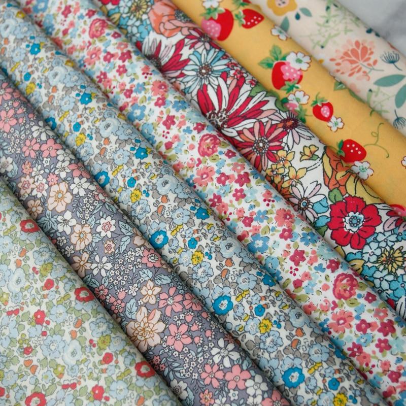 140x50cm Pastoral Floral Plain Cotton Fabric DIY Children's Wear Cloth Make Clothes Decoration Home Alibaba Express 150g/m